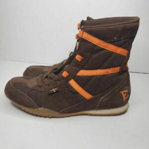 Everlast Mens Brown Orange Suede Boxing MMA Lace Up Boots  6.5 M