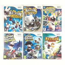 Lot 6 Jeu Wii Rayman Contre Les Lapins Cretins L'intégrale Collection Complète