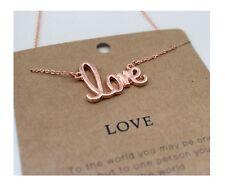 Simple love Short Paragraph Pendant Long Strip Necklace