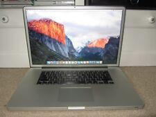 Apple MacBook Pro A1297 2011 17 Core i7 2.4Ghz 12GB 750GB Ati 1gb OSX El Capitan