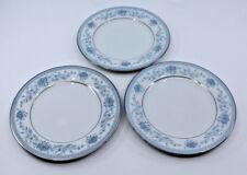 Noritake Porcelain Blue Hill 2482 Butter & Bread Plates Set of 3 Japan Flowers
