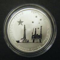 2014 Australian Texas 50c Sister Cities Houston Perth 1/2oz 0.5oz Silver coin