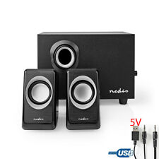 Nedis PC Lautsprecher 2.1 , 33W Speaker Multimedia Boxen für PC Computer Laptop