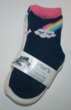 New Carter's Girls 3 pack Socks 2-4 year Nwt Happy Rainbow Cloud Hearts 3 Pairs