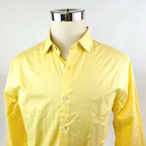 Penguin Cotton Poplin Yellow Button Front Dress Shirt Mens 16.5/17 32/33 NWT