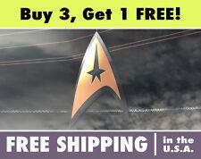 Star Trek Gold Logo Circle Cut Vinyl Bumper Sticker Decal StarTrek