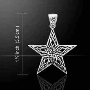 Sterling Silver Celtic Knotwork Star Pendant by Peter Stone.