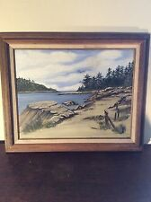 "Rare Signed ""Mac"": Oil Painting on Canvas: Original Painting"
