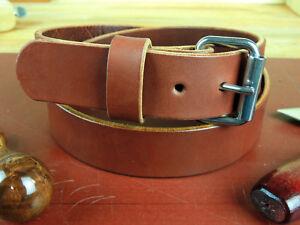 "Men's 1 1/2""_Heavy Duty Leather Gun Holster CCW Work Belt_Amish Handmade_1.5"""