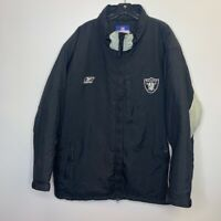 Oakland Raiders NFL Team Apparel Reebok Mens Zip Up jacket Black Gray 2XL