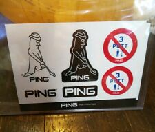 PING GOLF Original Sticker Mr.PING/Not 3 Putt Caution/Ping Logo customize putter
