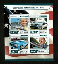 Djibouti 2017 - Modes of Transportation Donald Trump - Sheet of 4 Stamps - MNH