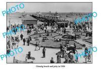 OLD 8x6 PHOTO THE GLENELG BEACH & JETTY 1936 ADELAIDE SOUTH AUSTRALIA