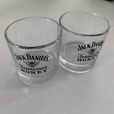 Jack Daniels Tennessee Honey rocks glasses (2) Brand New
