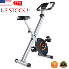 Folding Exercise Bike Stationary Bicycle Indoor Cycling Cardio Fitness Workout