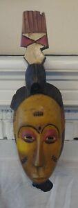 Genuine Hand Made in Africa Ivorian Guru Mask