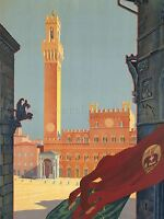 PAINTING TUSCANY SIENA ITALY ARCHITECTURE ART POSTER PRINT LV2947