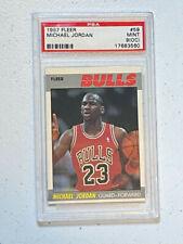 1987 Fleer Michael Jordan #59 Bulls PSA Mint 9 OC 2nd Year MJ Fleer Card