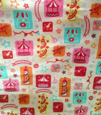 """Fabric Carousel Patch flannel 1 yard x 43"""" wide new cotton Snuggle Flannel pink"""