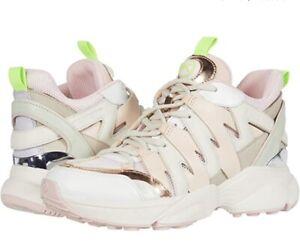 Women MK Michael Kors Hero Trainer Lace up Sneakers Cream Multi