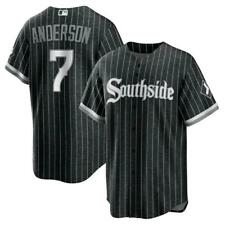 Men's Mlb Chicago White Sox Tim Anderson 2021 City Connect Jersey - Black
