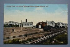 R&L Postcard: Canada Intercolonial Railway Machine Shops Sheds Moncton