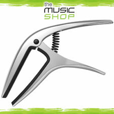 New Ernie Ball Axis Silver Trigger Guitar Capo - Acoustic or Electric - 9601