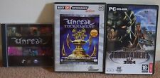 Unreal + Unreal Tournament + Unreal Tournament 2004 Windows PC Games Boxed