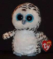 """TY BEANIE BOOS BOO'S - LUCY the 6"""" OWL - JUSTICE EXCLUSIVE - MINT with MINT TAG"""