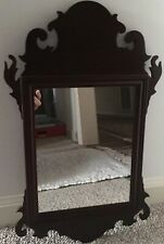 Williamsburg Collection Mahogany Chippendale Mirror Va Metalcrafters Signed