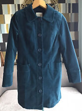 White Stuff Ladies Lovely Emerald Green Velvet Coat New Size 12