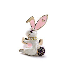R221 Betsey Johnson Magic Alice in Wonderland  Bunny Rabbit  Tail Easter Ring UK