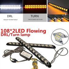 216LED Flexible DRL Knight Rider Strip Light Headlight Arrow Flasher DRL Turn 2x