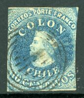 Chile 1853 First Issues 10¢ Columbus  VFU F922