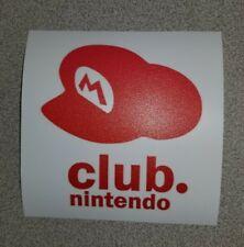 Club Nintendo logo sticker. 4 x 4. (Buy 3 stickers, Get One Free!)