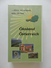 VHS Video Kassette Ökoland Österreich Naturschutzbund Bio Sonnenenergie Wind