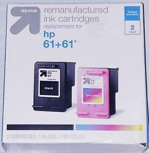 [NEW] Remanufactured Ink Cartridges HP 61+61 1 Black , 1 Tri Color