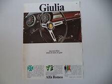 advertising Pubblicità 1968 ALFA ROMEO GIULIA SUPER
