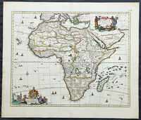 1690 Nicolas Visscher Large Original Antique Map of Africa - Magnificent