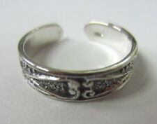 2pcs Solid 925 Sterling Silver Adjustable Toe Ring Solid 925 Oxidized Jewelry