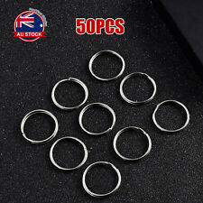 Bulk 50pcs 25mm Metal Key Holder Split Rings Keyring Keychain Accessories AU G