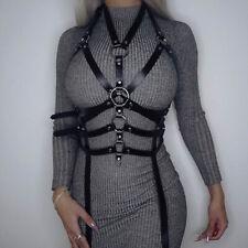 Women Faux Leather Harness Garter Belts Sexy BDSM Body Bondage Straps Suspenders