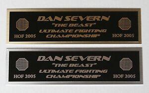 Dan Severn UFC nameplate for signed mma gloves photo case