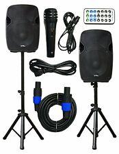 2x Ignite Pro 12'' Pro Series Speaker DJ PA System Bluetooth Playback 2000W