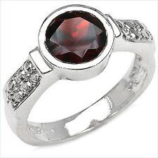Damen Ring Collien, 925er Silber, 3,0 Kt. Granat, Gr. 56