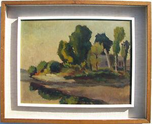 Emilio COMINI (Pavia 1903-1960) Il Ticino a Pavia INTROVABILE opera STORICA 1931