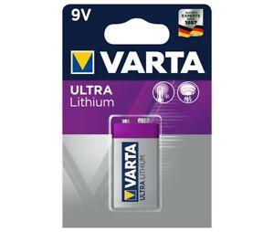 Varta Batterie Lithium, E-Block, 6FR61, 9V Ultra Lithium, Professional, (1-Pack)