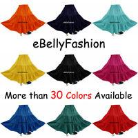 Women Cotton 3 Tiered 6 Yard Skirt Maxi Belly Dance Gypsy Tribal Jupe Boho Skirt