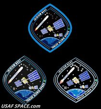 AUTHENTIC Iridium NEXT Launch-2 - PIN PATCH & STICKER SET - SPACEX FALCON 9 USAF