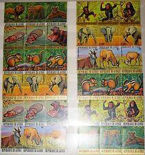 GUINEA 1977 793-28 752-57 C137-42 Endangered Animals gefährdete Tiere Fauna MNH